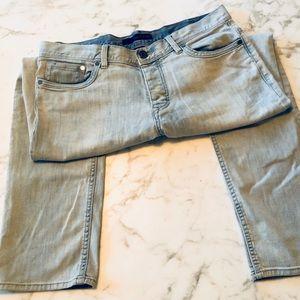 Calvin Klein Faded Denim Slim Straight Jeans